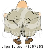 Clipart Flasher Man From Behind Royalty Free Vector Illustration