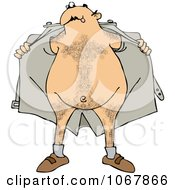 Clipart Flasher Man Opening His Jacket Royalty Free Vector Illustration by djart
