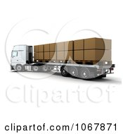 Clipart 3d Big Rig Truck With Boxes Royalty Free CGI Illustration