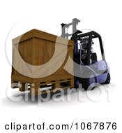 Clipart 3d Robot Moving A Crate On A Forklift Royalty Free CGI Illustration by KJ Pargeter