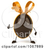 Clipart 3d Thumbs Up Chocolate Egg 2 Royalty Free CGI Illustration