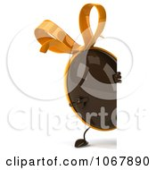 Clipart 3d Chocolate Egg With A Sign 2 Royalty Free CGI Illustration