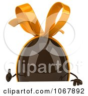 Clipart 3d Thumbs Up Chocolate Egg Sign Royalty Free CGI Illustration