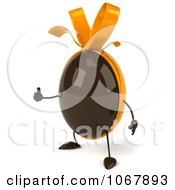Clipart 3d Thumbs Up Chocolate Egg 1 Royalty Free CGI Illustration