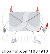 Clipart 3d Devil Envelope Royalty Free CGI Illustration