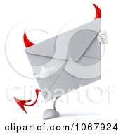 Clipart 3d Devil Envelope Sign Royalty Free CGI Illustration