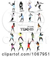 Clipart Tennis Players 4 Royalty Free Vector Illustration