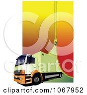 Clipart Big Rig Logistics Background 6 Royalty Free Vector Illustration