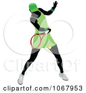 Clipart Tennis Woman 9 Royalty Free Vector Illustration