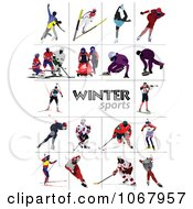 Clipart Winter Sports Royalty Free Vector Illustration by leonid