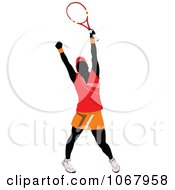 Clipart Tennis Woman 7 Royalty Free Vector Illustration