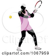 Clipart Tennis Woman 8 Royalty Free Vector Illustration