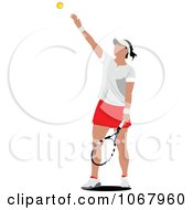 Clipart Tennis Woman 20 Royalty Free Vector Illustration