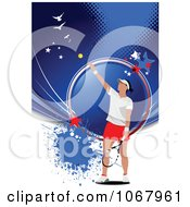 Clipart Tennis Woman Background 9 Royalty Free Vector Illustration