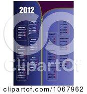 Clipart 2012 Calendar 2 Royalty Free Vector Illustration
