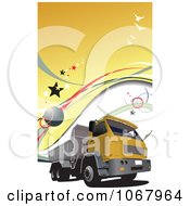 Clipart Big Rig Logistics Background 2 Royalty Free Vector Illustration
