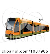 Clipart Tram Bus 1 Royalty Free Vector Illustration by leonid