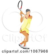 Clipart Tennis Woman 13 Royalty Free Vector Illustration