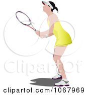 Clipart Tennis Woman 12 Royalty Free Vector Illustration