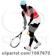 Clipart Tennis Woman 10 Royalty Free Vector Illustration