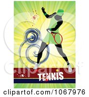 Clipart Tennis Woman Background 4 Royalty Free Vector Illustration