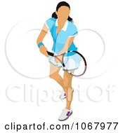 Clipart Tennis Woman 15 Royalty Free Vector Illustration