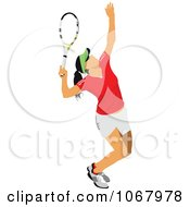 Clipart Tennis Woman 16 Royalty Free Vector Illustration