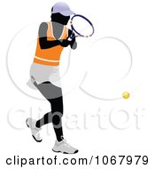 Clipart Tennis Woman 11 Royalty Free Vector Illustration