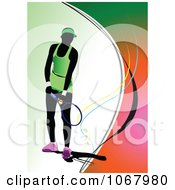 Clipart Tennis Woman Background 8 Royalty Free Vector Illustration