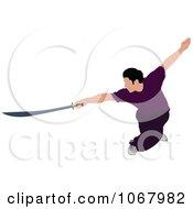 Clipart Martial Artist 3 Royalty Free Vector Illustration