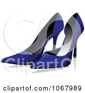 Clipart Blue Heels Royalty Free Vector Illustration