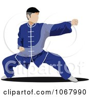 Clipart Martial Artist 4 Royalty Free Vector Illustration