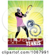 Clipart Tennis Woman Background 5 Royalty Free Vector Illustration