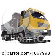 Yellow Dump Truck by leonid
