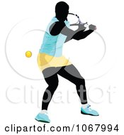 Clipart Tennis Woman 6 Royalty Free Vector Illustration