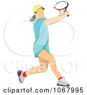 Clipart Tennis Woman 14 Royalty Free Vector Illustration