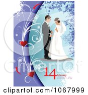 Clipart Valentines Day Wedding Background 2 Royalty Free Vector Illustration