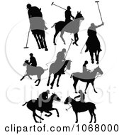 Clipart Horse Silhouettes 4 Royalty Free Vector Illustration by leonid