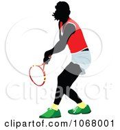 Clipart Tennis Woman 1 Royalty Free Vector Illustration