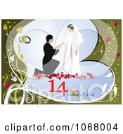 Clipart Valentines Day Wedding Background 3 Royalty Free Vector Illustration