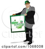Man Holding A St Patricks Sign