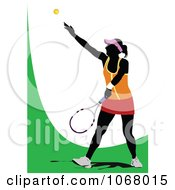 Clipart Tennis Woman 2 Royalty Free Vector Illustration