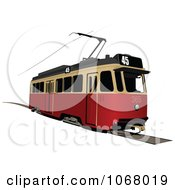 Clipart Tram Bus 2 Royalty Free Vector Illustration by leonid