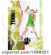 Clipart Tennis Woman Background 1 Royalty Free Vector Illustration