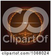 Clipart Ornate Invitation Background 3 Royalty Free Vector Illustration