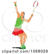 Clipart Tennis Woman 4 Royalty Free Vector Illustration