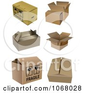 Clipart Cardboard Boxes 4 Royalty Free Vector Illustration