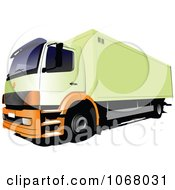 Clipart Logistics Big Rig Truck 3 Royalty Free Vector Illustration