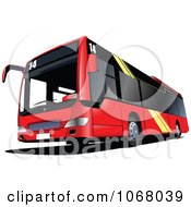 Clipart City Bus 4 Royalty Free Vector Illustration by leonid