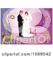 Clipart Valentines Day Wedding Background 4 Royalty Free Vector Illustration